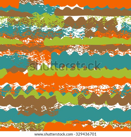Colorful ink wave texture pattern. Vector seamless - stock vector
