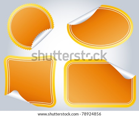 Colorful Labels on a background for a design - stock vector
