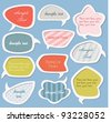 Colorful labels / speech bubbles set - stock vector