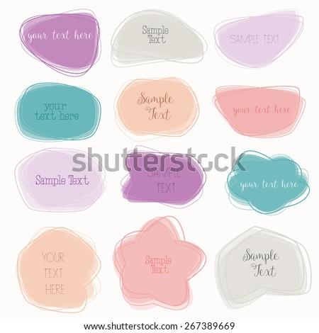 Colorful Labels /Speech Bubbles Set - Vector eps10 - stock vector
