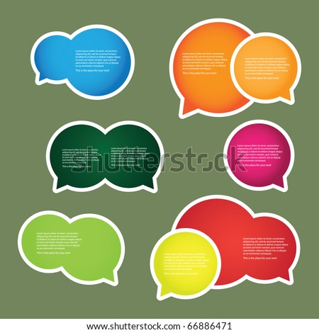 Colorful Labels, Tags - stock vector
