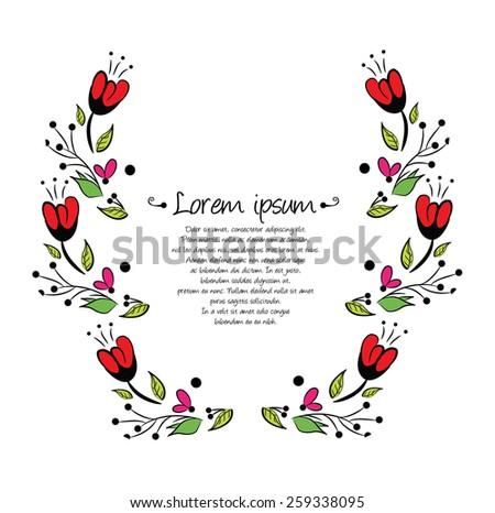 Colorful Laurel wreath - stock vector