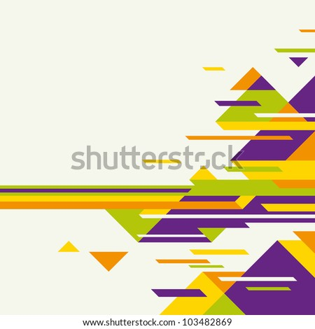 Colorful layout with abstraction. Vector illustration. - stock vector