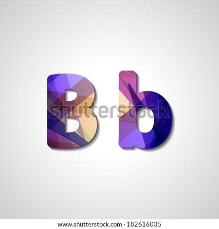 Colorful letter alphabet, abstract  illustration - stock vector