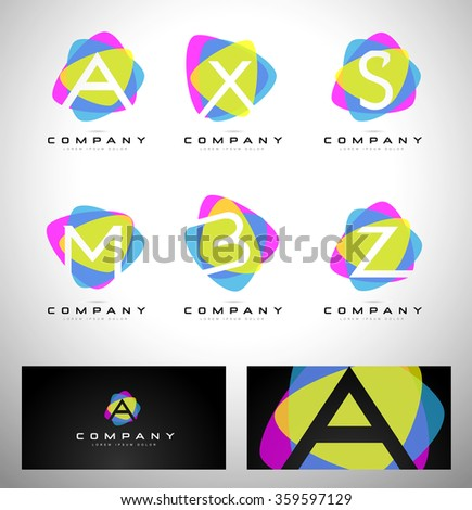 Colorful Letter Logo Design. Vector logo with creative letters concept.