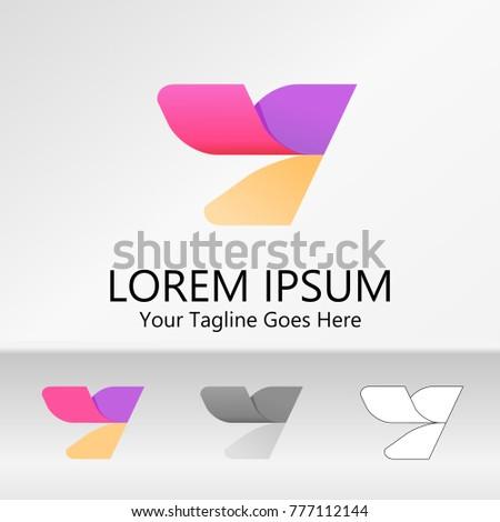 Colorful Letter Y Logo Creative Vector Stock Vector 777112144 ...