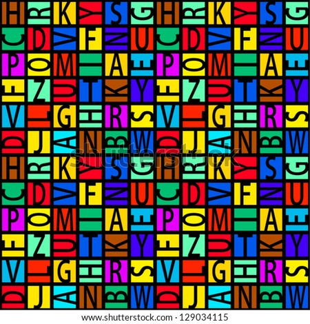 Colorful letters seamless pattern.