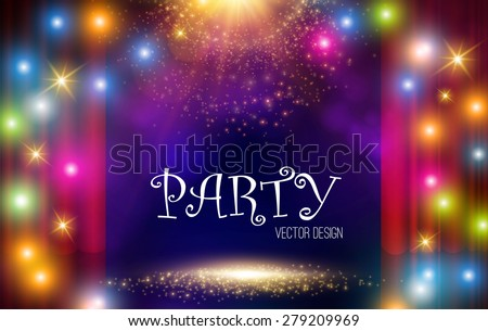 Colorful light party background. Vector illustration - stock vector