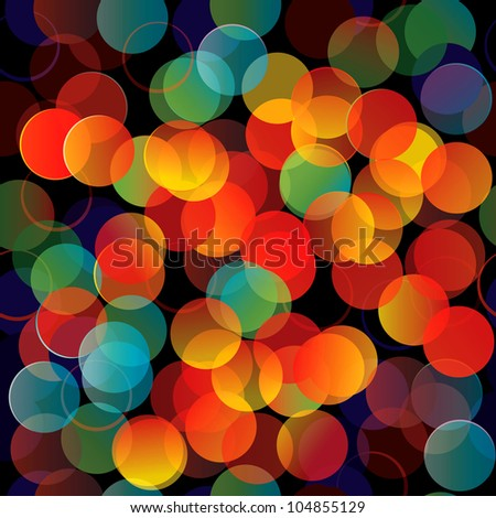 Colorful lights seamless background - stock vector