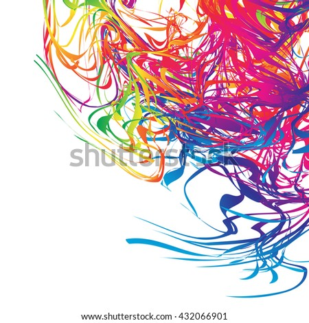 colorful lines of abstract background