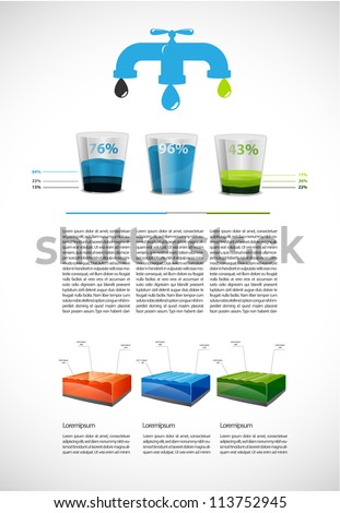 Colorful liquid  presentation - stock vector