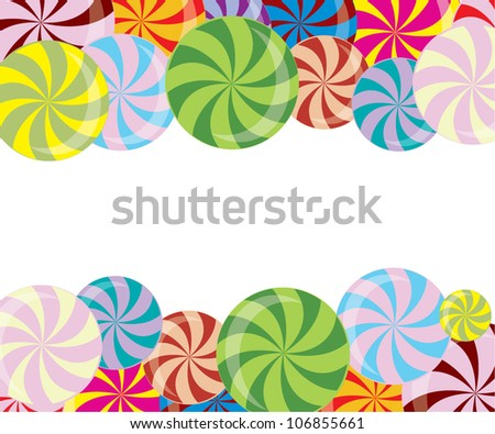 Colorful lollipops/Vector illustration - stock vector