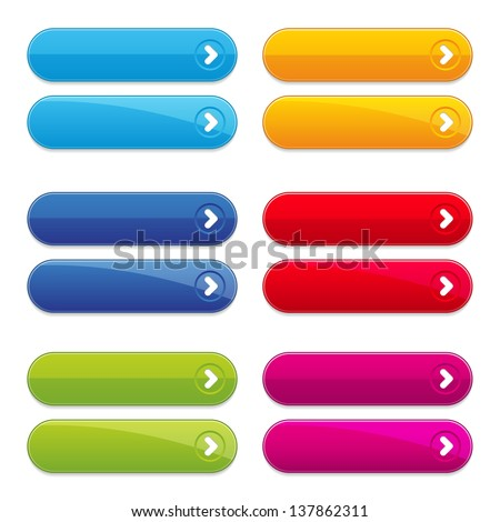 Colorful long round buttons - stock vector