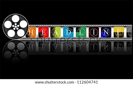 colorful Media. Electronic HEADLINE, vector - stock vector