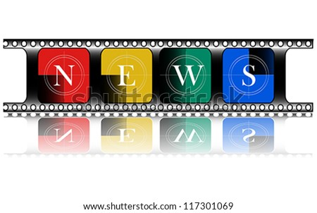 colorful, Media, Electronic news, vector - stock vector
