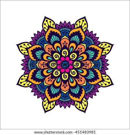 handdrawn mehendi ornamental pattern design set stock