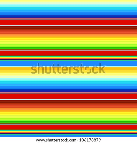Colorful mexican Serape blanket seamless pattern, vector - stock vector