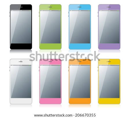 Colorful mobile phone - stock vector