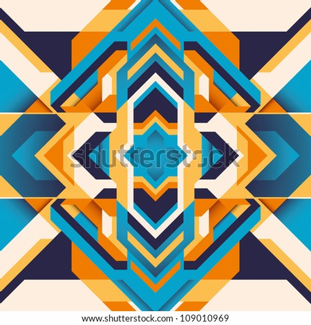 Colorful modern arabesque. Vector illustration. - stock vector