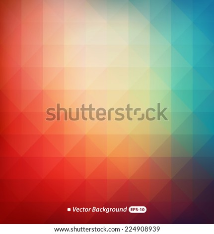 Colorful modern geometrical abstract background - stock vector
