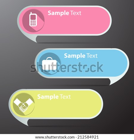 colorful modern speech bubble text box template for website and graphic, icon. - stock vector