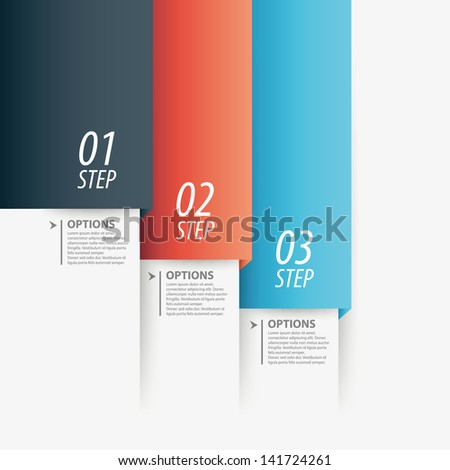 Colorful modern step origami style options banner line. Vector illustration.
