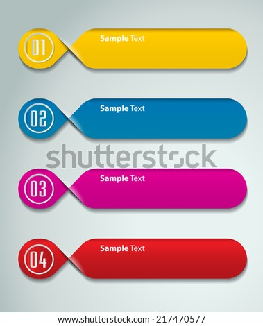colorful modern text box template website stock vector 217470577