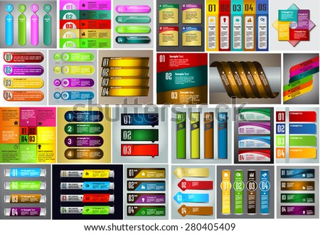 colorful modern text box template for website computer graphic and internet, numbers. Set of color frames for text or quotes. brochure. many, various. Brochure. card. infographics. Design label..  - stock vector