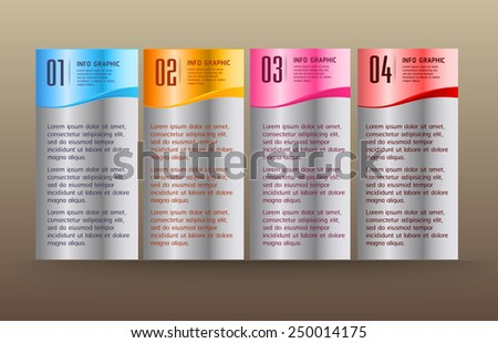 colorful modern text box template for website computer graphic technology and internet, numbers. silver - stock vector