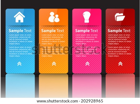 colorful modern text box template for website, labels, icon. - stock vector