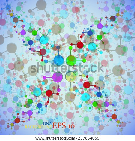 Colorful molecule DNA. Abstract background. Eps10.Vector illustration - stock vector