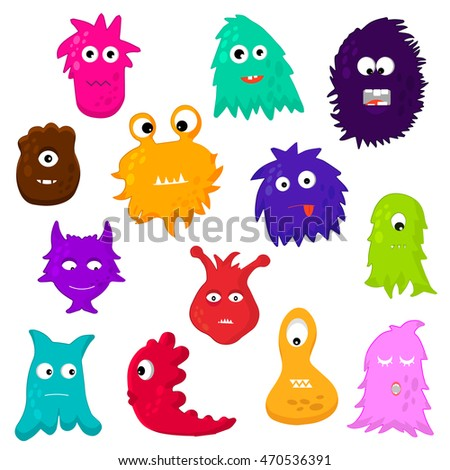 Colorful monsters. Vector.