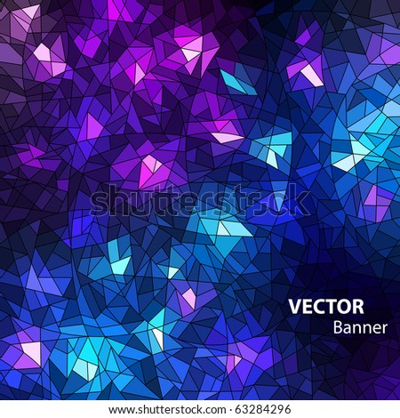 colorful mosaic background - stock vector