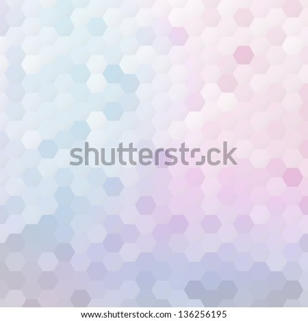 Colorful mosaic banner for your design. Geometric hipster retro background. Honeycomb with gradient background. Elegant vector bokeh texture - stock vector
