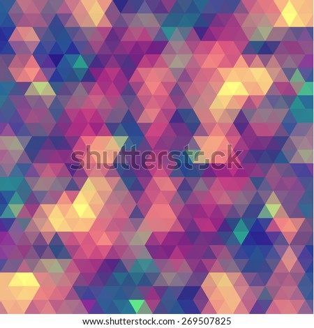 Colorful mosaic geometric background - stock vector