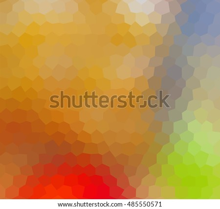 colorful multicolor hexagon geometric low polygon gradient graphic abstract background vector eps10