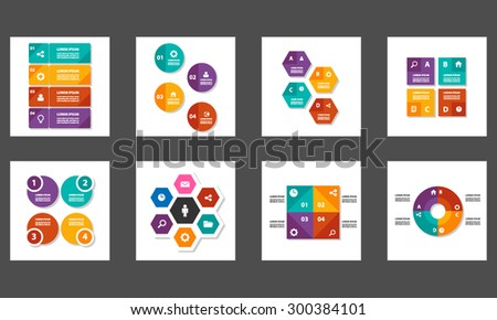 Colorful multipurpose infographic element and icon flat design set for presentation advertising marketing brochure flyer  - stock vector