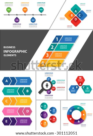 Colorful multipurpose Infographic element and icon template flat design set pack for Presentation advertising marketing  brochure flyer 2 - stock vector