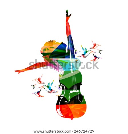 Colorful music design - stock vector