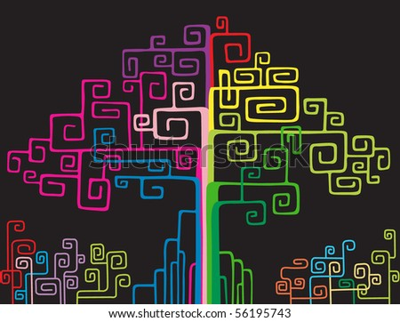 colorful network tree