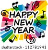 Colorful new year 2013 party illustration - stock photo
