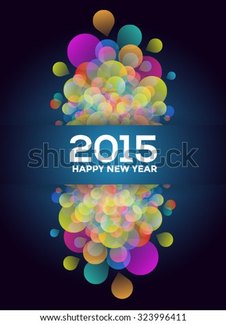 Colorful 2015 New Years Abstract Background - stock vector