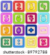 Colorful number blocks - stock vector