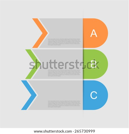 Colorful numbered banners template design, eps10 Vector. - stock vector