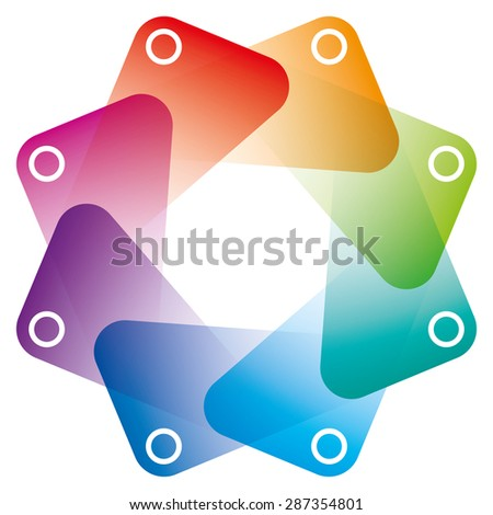 Colorful Octagon Symbol with transparent effect. Vector EPS10 with copy space. - stock vector