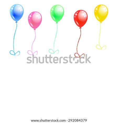 Colorful of balloons  board vector - stock vector