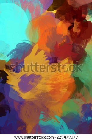 Colorful oil brush abstract. Vector illustration.