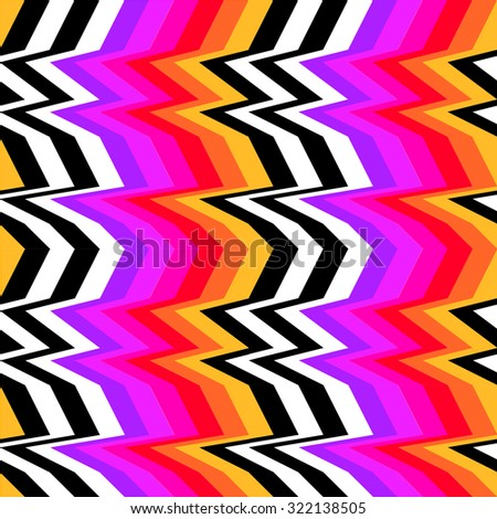 Colorful op-art stripes - stock vector