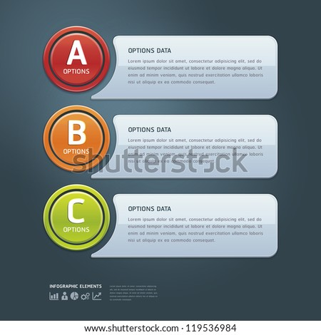Colorful Options Banner template. Vector illustration