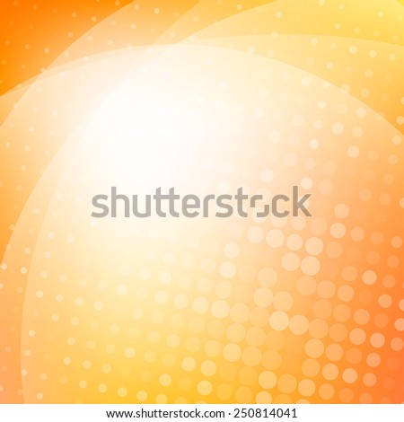 Colorful orange light abstract background - stock vector